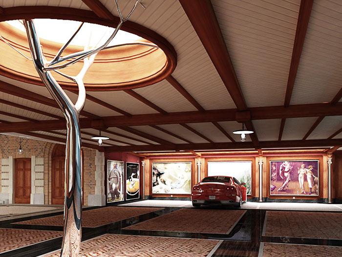 Проект интерьеров дома в Цюрихе. 2009