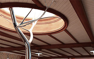 Project for the interiors of the private house. Zurich. 2009
